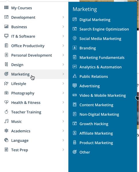 Materi Marketing Udemy